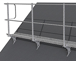 Guardrail for roof gangway