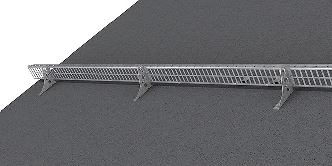 Snow guard made of profile grating -  Flat roofs