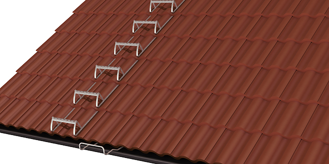 Roof treads for tiled roofs