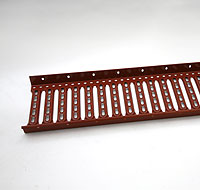 Profiled grating 2520x350mm (Lacquered in red) - RPB2450