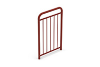 Universal railing childproof  (700 mm) (Lacquered in red (RAL 3009)) - RUB0742