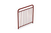 Universal railing childproof  (1000 mm) (Lacquered in red (NCS 5040-Y80R)) - RUB1042