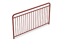 Universal railing childproof  (2000 mm) (Lacquered in red (NCS 5040-Y80R)) - RUB2042