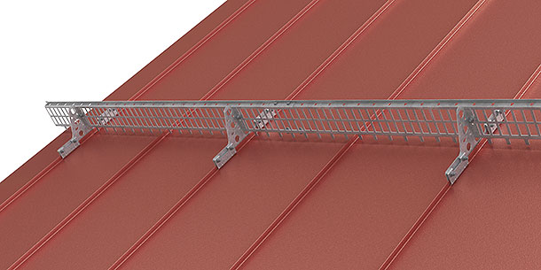 Integrated standing seam mount