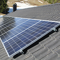 Solar panel fixing parallel system