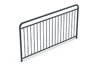 Universal railing childproof  (2000 mm) (Lacquered in gray (RAL 7011)) - GUB2042