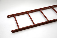 Ladder 2400 x 400 mm (Lacquered in red (RAL 3009)) - RST2440