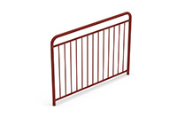 Universal railing childproof  (1500 mm) (Lacquered in red (RAL 3009)) - RUB1542