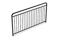 Universal railing childproof  (2000 mm) (Lacquered in black (RAL 9005)) - SUB2042